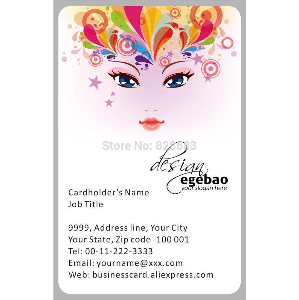 Beautiful girl Template Makeup Artist for translucent plastic cards Y0075