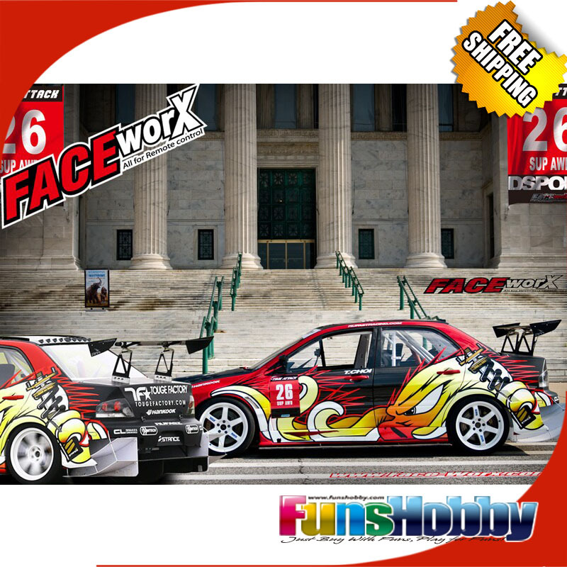 Faceworx 1 10 rc model car on road drift tamiya serpent decal sticker paper watpig decals set fwd042 free shipping in decals stickers from automobiles