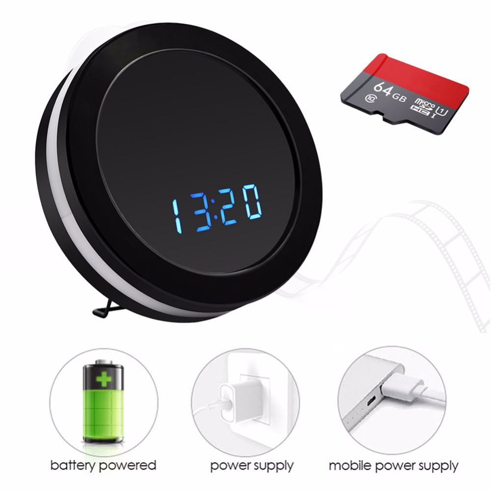 1080P H.264 Table Clock Camera Alarm Setting IR Night Vision Video Recorder Wireless IP DV DVR Cameras Support IOS/Android PC