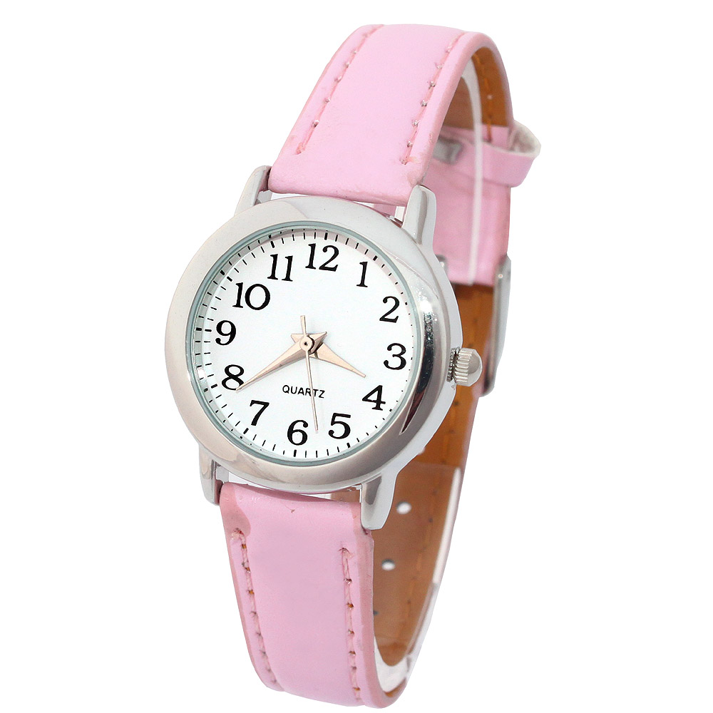 Fashion Brand Lovely Children Watches Girls' Daily Waterproof Leather Cartoon Watch Quartz Wristwatches For Girls