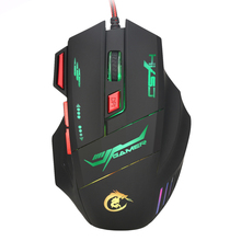 5500 DPI 7 Buttons Mouse Gamer Gaming Multi Color LED Optical USB Wired Gaming Mouse For Pro Gamer Free shipping