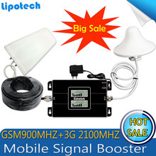 2017 New type! GSM 900/2100mhz Bual band Cell Smart Phone Signal Booster WCDMA 3G Mobile Signal Repeater Amplifier With LCD