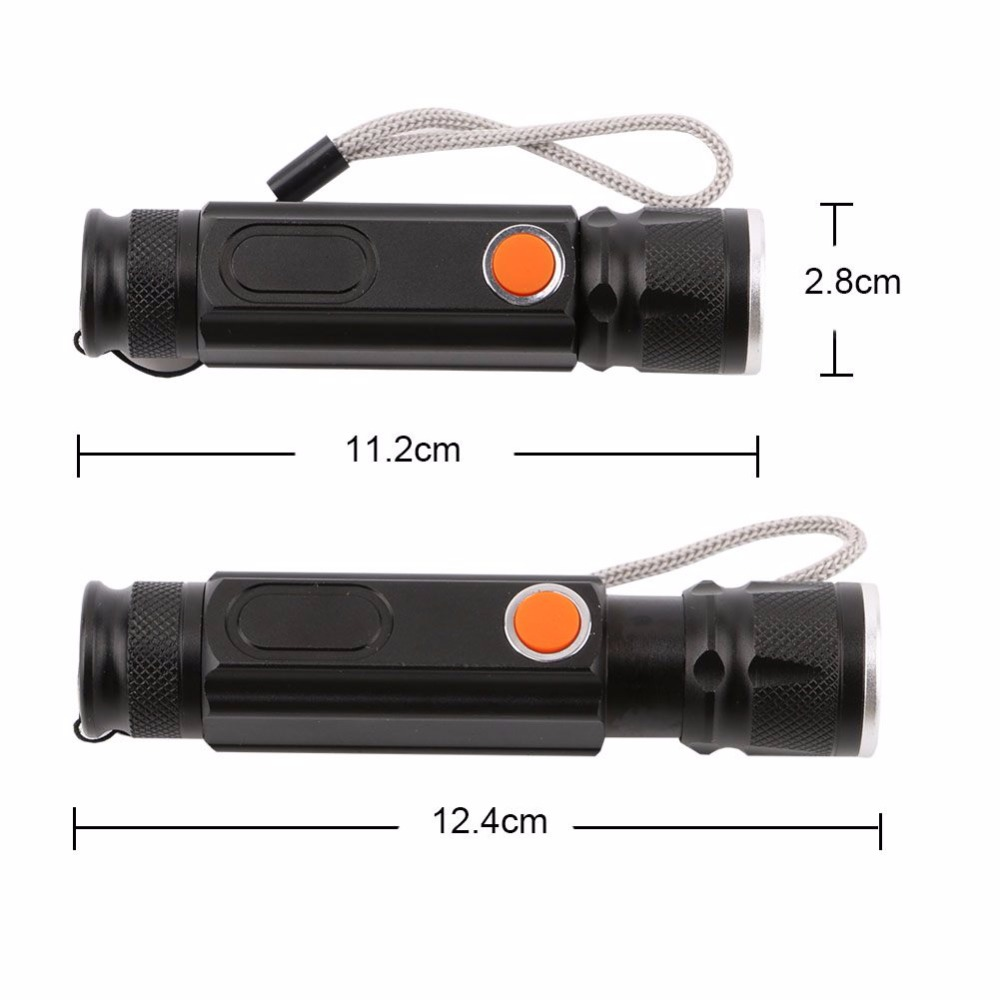 LED T6 Flashlight Torch Magnetic Camping Lamp USB COB Flashlight Rechargeable Waterproof Zoom Flash Light