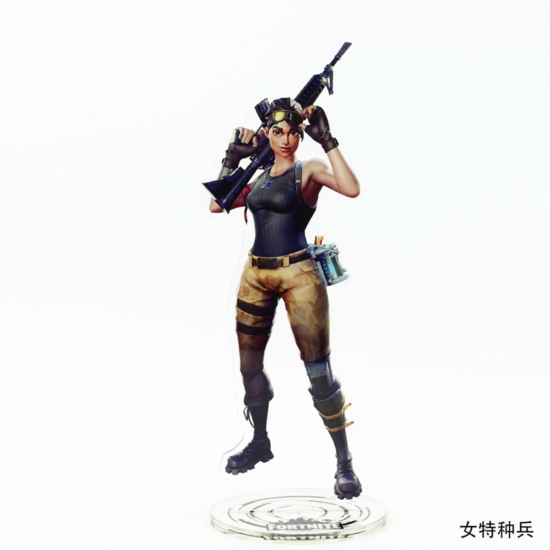 Game Fortnite Character Toy Figure Acrylic Stand Model Toys Table Desk Decoration 21cm Special Forces Builders Collectible Toys