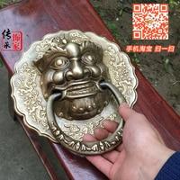 Speciale aanbieding toegenomen dikke Chinese antieke koperen Shoutou deurklink kylin afod deurklink Chinese winkel