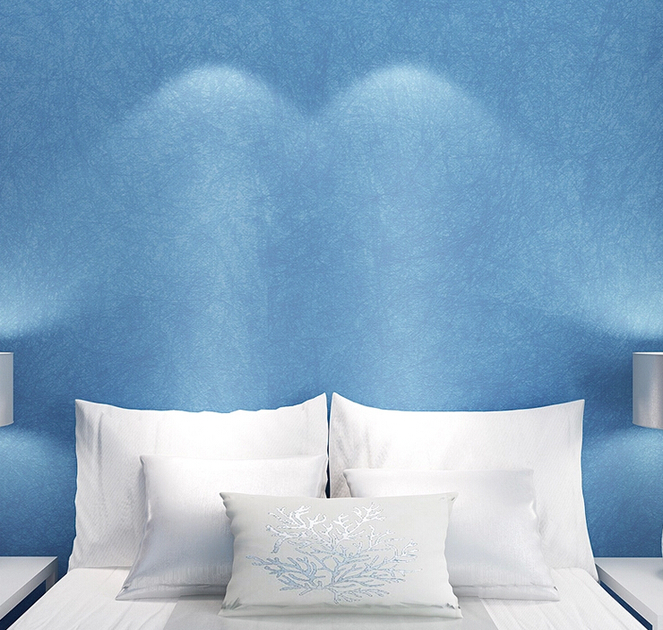 Mediterranean Style Sky Blue Wallpaper Modern Pure Color Wall Paper Roll For Bed Room Livingroom брелок blue sky faux taobao pc006