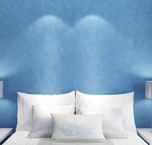 Mediterranean Style Sky Blue Wallpaper Modern Pure Color Wall Paper Roll For Bed Room Livingroom