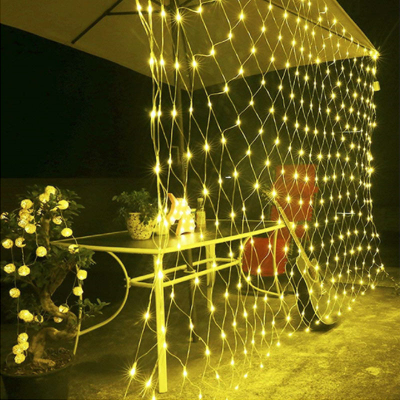 1.5*1.5M/3*2M/ 6*4M LED Net Mesh Fairy String Light Christmas Wedding Party Decoration Lights with 8 Function Controller EU Plug