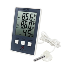Digital Thermometer Hygrometer Electronic LCD Temperature Humidity Meter Weather Station Indoor Outdoor Tool