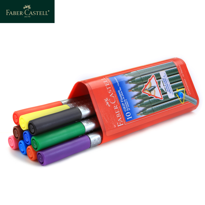 FABER-CASTELL Color Liner Pen 0.4mm Waterproof Water-based Ink Draw Liners Sketch Marker Professional Manga Design Drawing Pens scribble scribble pen faber castell 25 pieces of pencil sketch sketch article carbon combination 112969