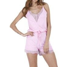 Sexy Women's Lace Fashion Comfortable Sets New Design Short V-neck Suspenders Pijamas Sets 2xl