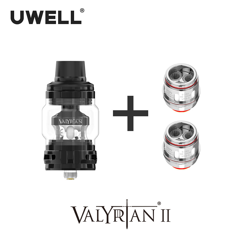 UWELL Valyrian II Tank with 1 Pack Valyrina II Replacement Coil UN2 Single Dual Triple Meshed