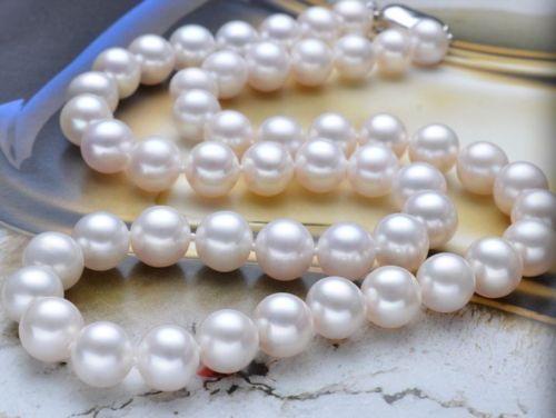 Hot selling free shipping****** 8-9mm AAA+ Akoya White Pearl Strand Necklace Handmade 17 цена и фото