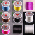 Free Shipping 1MM Crystal Rose red Blue Yellow Black White Brown Stretch Elastic Beading Cord 100M 1Pcs