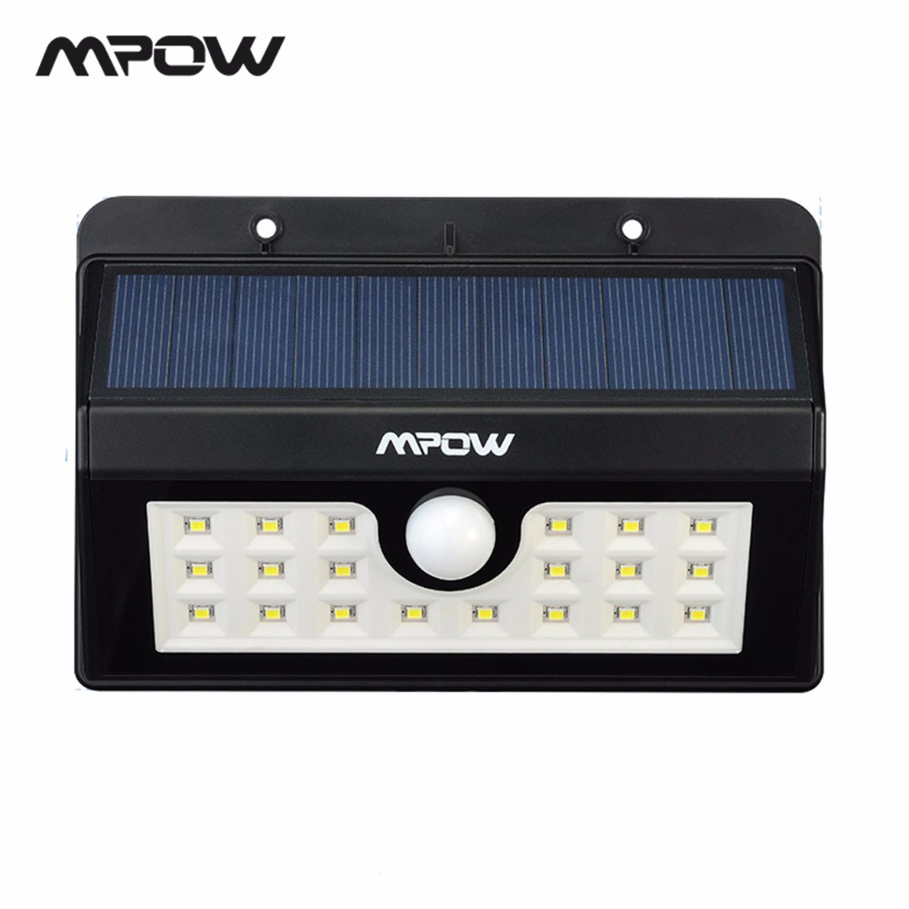 Mpow Outdoor MSL7 20 LED Solar Lamp Night lighting 3 Adjustable Motion Sensor Waterproof Lights For Garden Wall Patio Deck Yard купить в Москве 2019