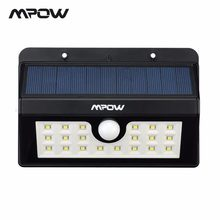 Mpow Outdoor MSL7 20 LED Solar Lamp Night lighting 3 Adjustable Motion Sensor Waterproof Lights For Garden Wall Patio Deck Yard(China)
