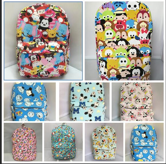 tsum TSUM mickey pluto zipper backpack shoulder bag mochila bag school bag unisex fashion bags a christmas carol and other christmas writings