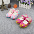 2017 spring new arrival children shoes girls shoes child fashion cute flower princess sandals slip -resistant flats