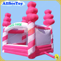 Hot Pink 4mx3m Inflatable Candy Floss Stand Stall Removable Inflatable Tent Shop