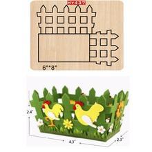 Boîte de clôture en bois découpée, matrices pour bricolage, nouveauté 2019
