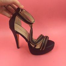Sandals Women Side Zipper Women Sandals Platform High Heels Ladies Party Shoes Ladies Shoes Designer Shoes Women Luxury 2016