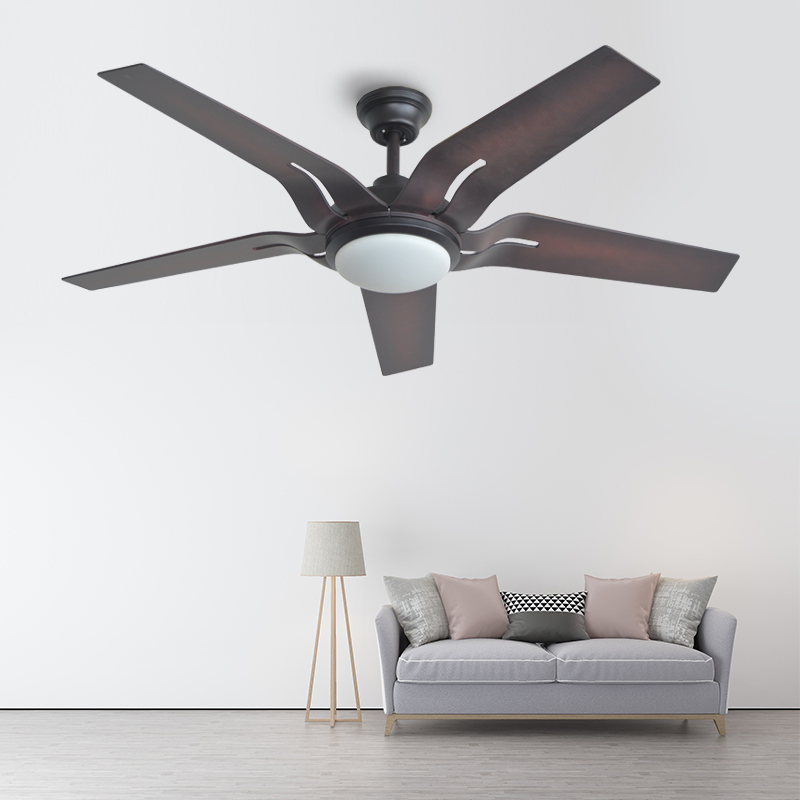 Dimming large 58 inch led white brown ceiling fans with - Bedroom ceiling fans with remote control ...