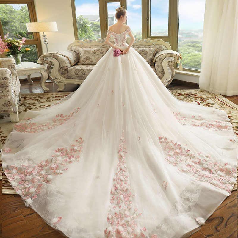 eddbc99aac4 ... Pregnant Women Pregnancy Maternity Wedding Dresses 2018 New Bride  Married Word Shoulder Princess Dream Wedding Simple