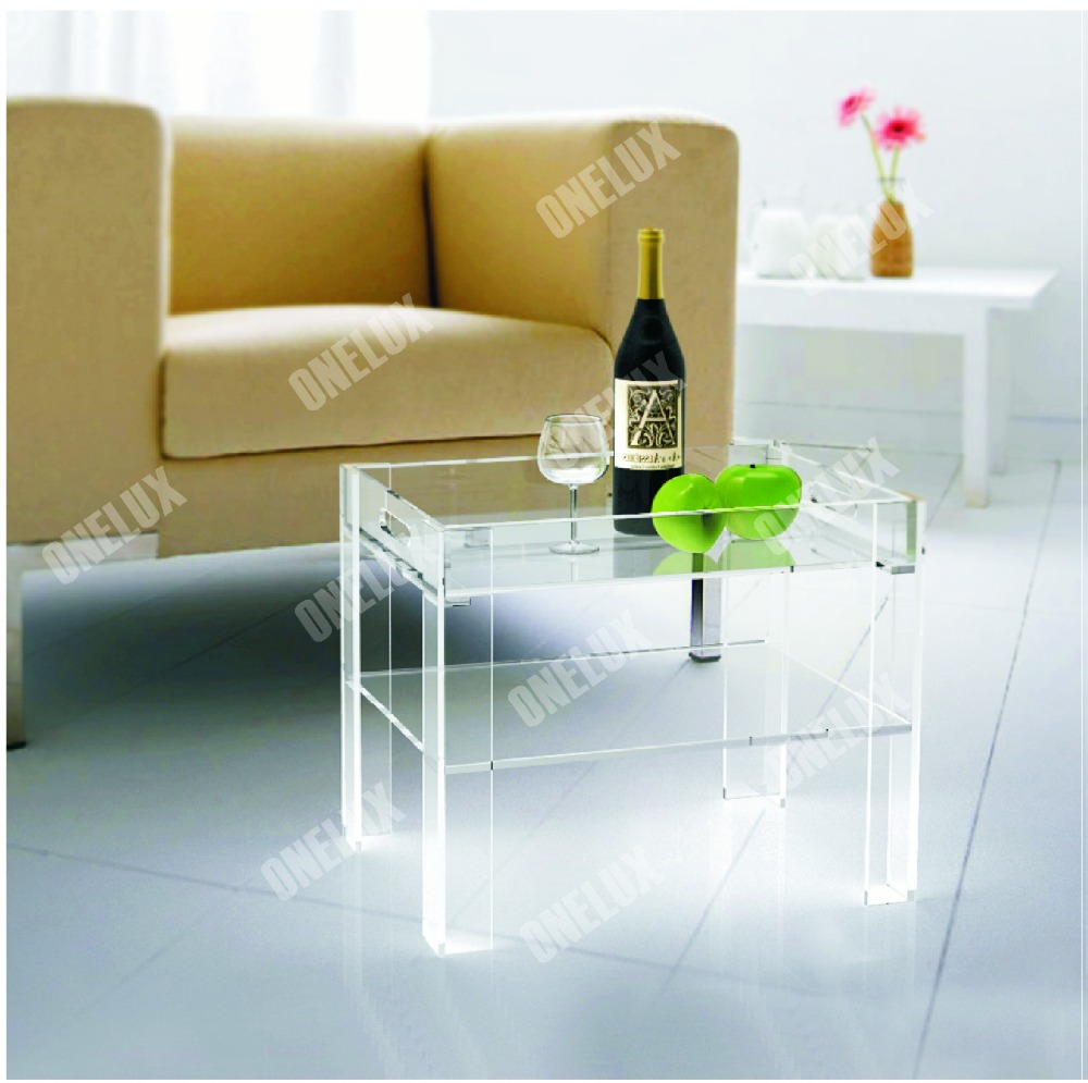 Aliexpress.com : Buy Rectangular Clear Acrylic Lucite Side Table W/ Serving  Tray From Reliable Side Table Suppliers On TERRACE Furniture And  Decor(acrylic ...