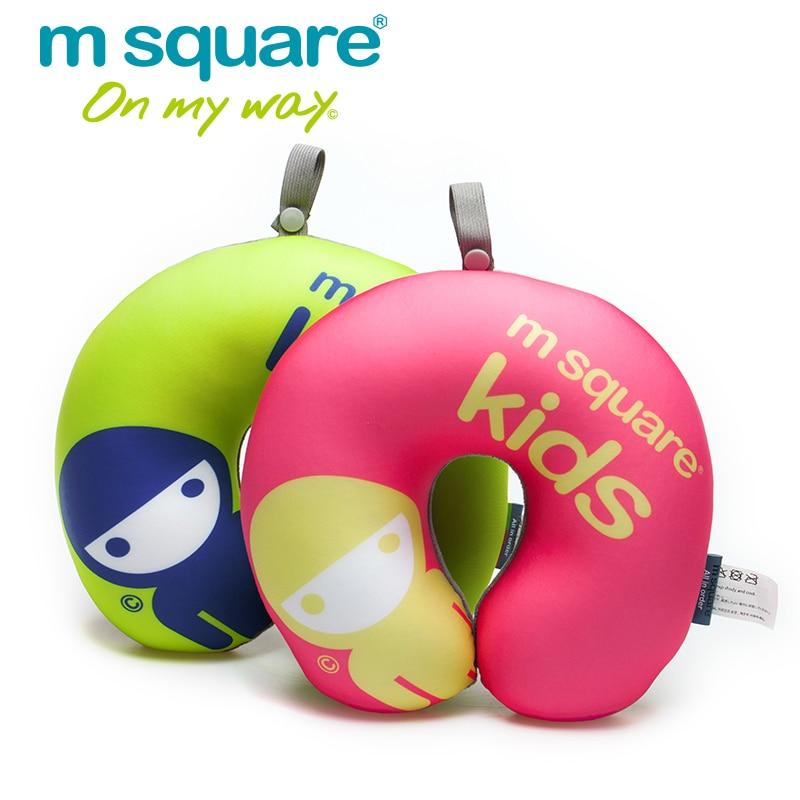 M Square Travel Aksesuāri bērniem U formas ceļojuma spilvenu masāžas spilvenu kakla spilvens