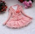 O envio gratuito de Meninas Bonitas 2 Peça Cardigan e Dimante Vestido Tutu crianças bebê vestuário infantil meninas terno de saia