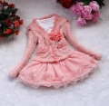 free shipping Beautiful Girls 2 Piece Cardigan and Dimante Dress Tutu baby kids Children clothing girls skirt suit