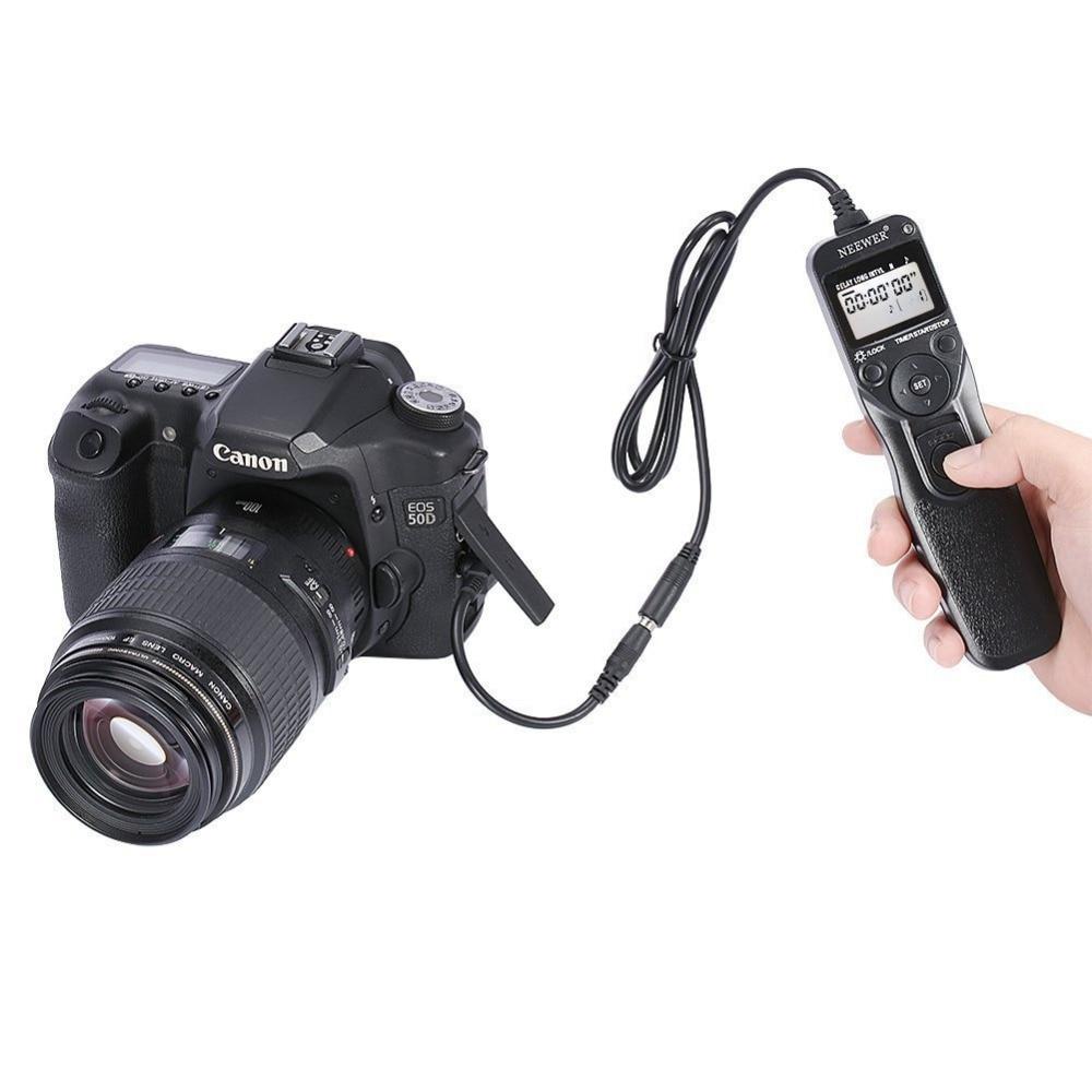 Neewer Shutter Release Timer Remote Control For Canon EOS 550D/450D/400D/350D/300D/60D/600D/1100D/1000D/1D/10D/20D/30D/40D/50D все цены