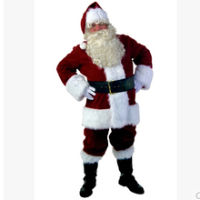 Santa Claus Clothing Party Cosplay Male Costume For Man Christmas Fantasias Mascot Disfraces Adult Dress Carnival Costumes AN339