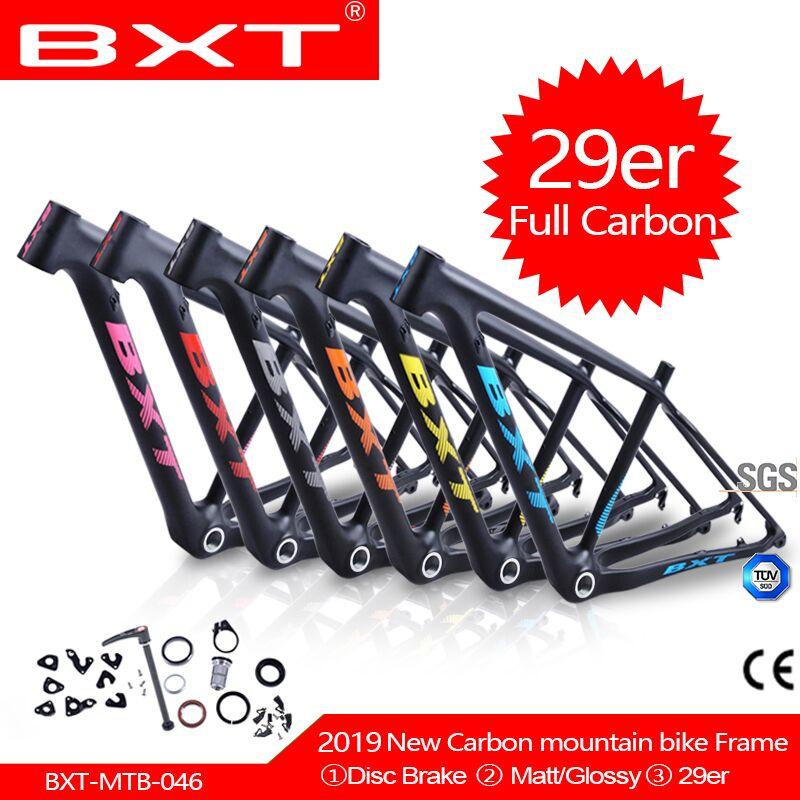 Carbon Mountain 29er Frame Full Carbon MTB Bicycle Framest Bxt 27.2mm Seatpost Frame 142*12 Or 135*9mm Bike Frames BSA