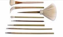 8 قطعة/مجموعة الفخار فرشاة خشبية مجموعة أداة الطين نحت أدوات الفخار أدوات الرسم السيراميك لون الرسم فرشاة مجموعة