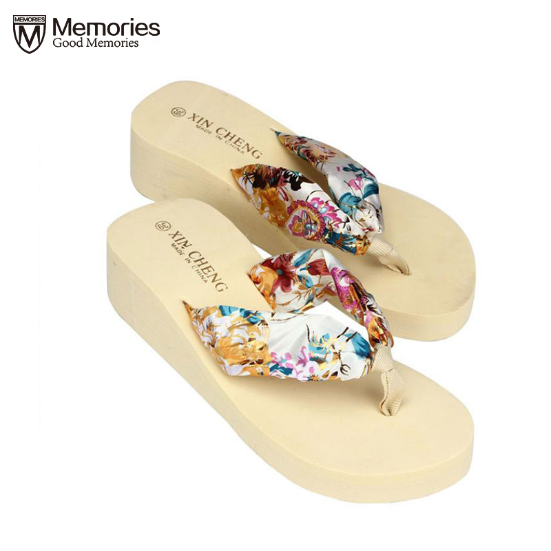 shoes woman sandalia feminina flip flop sandalias wedges Summer Plus Size ladies shoes Platform Wedges Female Beach Bohemia 2018 plardin 2017 bohemia summer casual women wedges platform woman ladies metal decoration flip flops genuine leather shoes