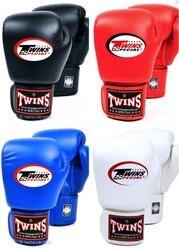 8 10 12 14 unzen Twins Handschuhe Kick Boxing Handschuhe Leder PU Sanda Sandsack Training Schwarz Boxing Handschuhe Männer Frauen guantes Muay Thai