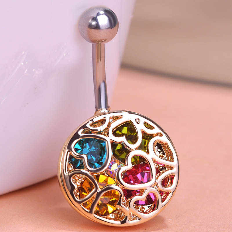 Blucome Donne di Colore Sexy Body Jewelry Piercing delle Donne Colares Cristallo Percings Accessori Strass Ombelico Anelli Dei Monili Del Corpo