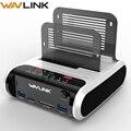 Wavlink 2,5 3,5 pulgadas USB 3,0 a SATA Dual-Bay Hard Drive estación de acoplamiento con clon sin conexión y lector de tarjetas UASP para 2,5