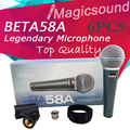 Upgrade Version BETA 58A !! Wholesale 6PCS Super-Cardioid Wired Stage Handheld Karaoke Dynamic Microphone Mic Beta58 Beta 58 A