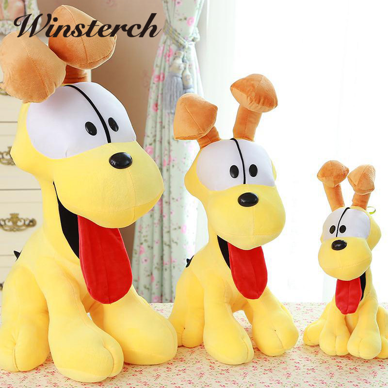 38cm Garfield Plush Toy With Cute Cartoon Pluto Dog Doll Lovely Toys Sitting Stuffed Animals For Kids Babys Children Gifts WW23  lovely sing dance dog toy pusheen cotton soft plush hold doll antistress for children baby
