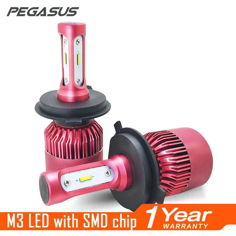 PEGASUS Car Headlight H1 H4 H7 H11 HB4 9006 HIR2 9012 LED 6500K 12V 24V Auto