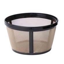 Reusable 10-12 Cup Coffee Filter Basket-style Permanent Metal Mesh Tool BPA Free