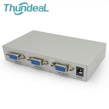 ThundeaL Caja Monitor VGA Splitter 150 MHz 1 en 2/4/8 amplificador Extensor Convertidor XGA SVGA UXGA VGA No Solución Inteligente interruptor
