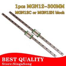 12mm Guidage Linéaire MGN12 L = 300mm linéaire voie ferrée + MGN12C ou MGN12H Long transport linéaire pour CNC X Y Z Axe