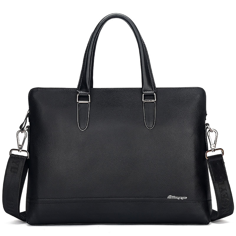 Genuine Real Interior Compartment Leather Men's Bag 2017 New First Layer Of Business Single Shoulder Portable Skewed Computer