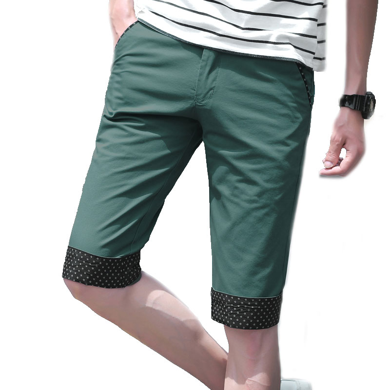 Casual Mens Shorts Fashion Stitching Mens Shorts Wave Point Cuffs Khaki Beige Orange Lightblue Darkblue Black Green Mens Shorts