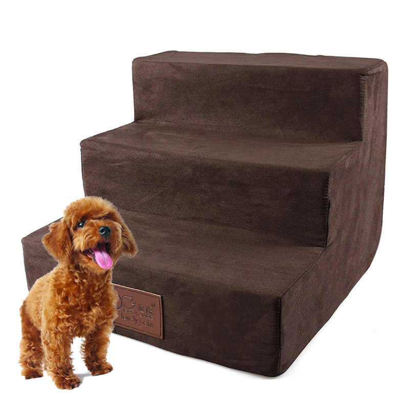 Pet Dog Stairs 3 Steps Ladder Small Dog house for Puppy Cat Pet Stairs Anti-slip Removable Puppy Dogs Bed Stairs Pet Supplies