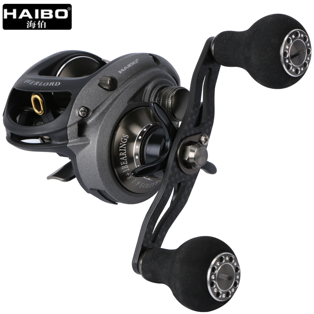 Haibo Brand 2017 New 9BB 5.4:1 Baitcasting Fishing Reel Left / Right Hand Bait Cast Lure Fishing Reel With Magnetic Brake System 12 1bb left right hand bait casting fishing reel 6 3 1 baitcasting reel magnetic brake system fish wheel pesca lyw 013