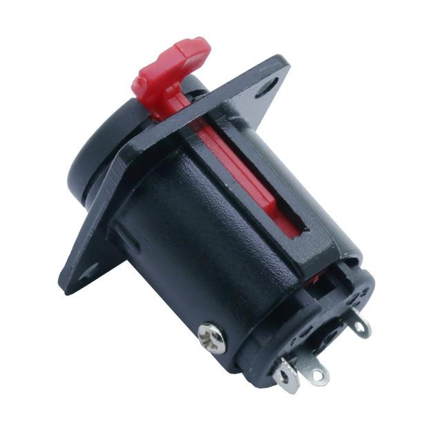 Jack 6.35mm 1/4 pouces stéréo TRS femelle | Prise de courant 2 trous, montage sur panneau, câble de Microphone Audio, Terminal de câbles de micro
